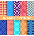 Graphic seamless patterns tiling vector image vector image