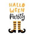halloween party banner with handwritten lettering vector image vector image