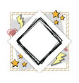 hand draw frame vector image vector image