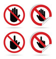 hand sign set vector image
