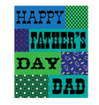 happy fathers day bandana card blue green vector image