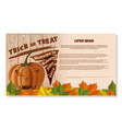 happy halloween design festive beige card vector image