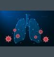 human lungs coronavirus cells attack respiratory vector image vector image