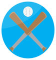 Icon baseball design flat vector image vector image