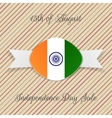 India Independence Day Holiday Emblem vector image vector image