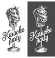 karaoke banner with grunge effect vector image vector image