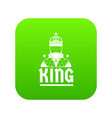 king icon green vector image