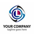 Letter L logo design template letter L icon vector image vector image