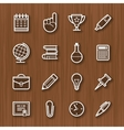 line icons set for business vector image vector image
