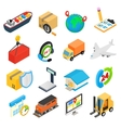 Logistics isometric 3d icons vector image vector image