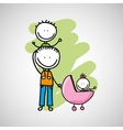 lovely family icon vector image vector image