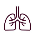 lung icon isolated on white background from vector image vector image