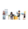 multiethnic business teamwork in office vector image vector image
