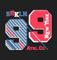 new york brooklyn vintage t shirt stamp vector image vector image