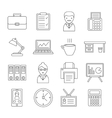 Office Line Icon Set vector image