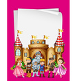 Paper design with characters from fairytales vector image vector image