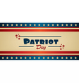 Patriot Day with blue and red stripes vector image vector image