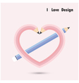 Pencil heart shape vector image