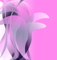 Pink flower isolated abstract background light vector image vector image