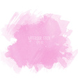 Pink watercolor stain on white background vector image