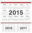 Polish circle calendars 2015 2016 2017 vector image vector image