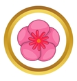 Rose of Sharon korean flower icon vector image vector image