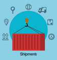shipments service business icons vector image vector image