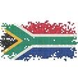 South Africa grunge tile flag vector image vector image