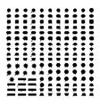 Speech bubbles black silhouettes vector image vector image