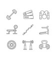 strength training linear icons set vector image vector image