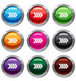 striped arrow set 9 collection vector image vector image