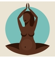 stylized silhouette pregnant woman vector image