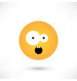 surprised emoticon round vector image vector image