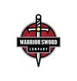 sword warrior logo vector image