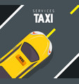 taxi cab design vector image vector image