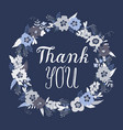 thank you greeting card with lettering vector image