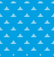 world currency pattern seamless blue vector image vector image