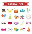 Party icons design element flat style Carnival vector image