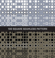 100 square seamless pattern set vector image vector image