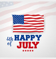 4th july happy independence day united state vector image vector image