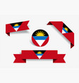 antigua and barbuda flag stickers and labels vector image vector image
