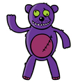 Bad teddy bear vector image