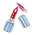 Beautiful Watercolor Lipstick vector image