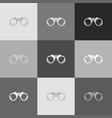 binocular sign grayscale vector image vector image