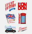 british logo symbols badges or stamps emblems vector image vector image