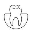 broken tooth linear icon vector image vector image