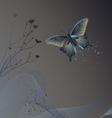 butterflies - wallpaper vector image vector image