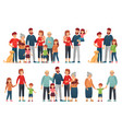 cartoon family portraits happy parents and vector image vector image