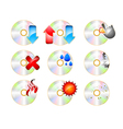 CD ROM Icon set on a white background vector image