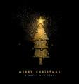 Christmas and new year glitter pine tree card art